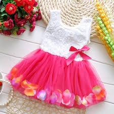 baby girls kid princess tutu dress lace bow flower vest tulle