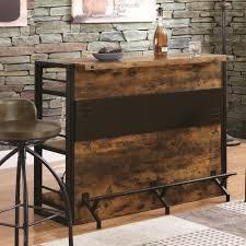 Rustic Bar Table Coaster Bar Units And Bar Tables Rustic Bar Unit With Stemware
