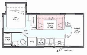 motorhome floor plans travel trailers with bunk beds floor plans best of 29 luxury class c
