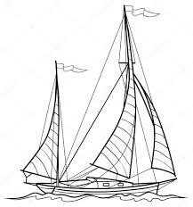 sketch yawl u2014 stock vector kopirin 58287751