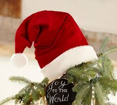 Decoration Christmas Hat by Santa Hat Tree Topper Pottery Barn