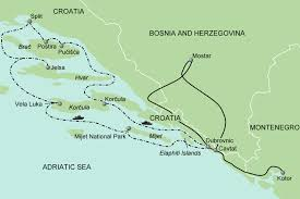 Adriatic Sea Map Map U2013adriatic 2014 Current 10 8 13 Walking Adventures