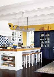 blue kitchen cabinets and yellow walls kitchen island designs we kitchen color yellow