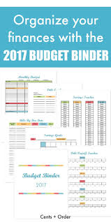 2017 budget binder printable how to organize your finances