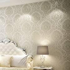 glitter wallpaper manufacturers wholesale 3d wallpaper rolls papel de parede damascus gold creamy