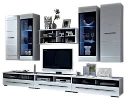 wall unit modern entertainment center with led lights tv stand