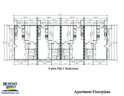 4 Plex Apartment Plans Commercial U2013 Meadowshomes Com