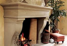 concrete fireplaces in the winery by sonoma cast stone