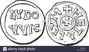bureau dictionnaire coin bureau au cours de la dynastie carolingienne vintage engraved