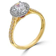 gold 1 carat engagement rings point of 1 carat halo engagement ring yellow