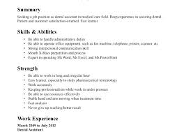 resume exles for dental assistants exle of dental assistant resume