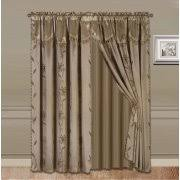 Drape Length Curtains With Attached Valances