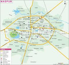 map in road nagpur map and nagpur satellite image