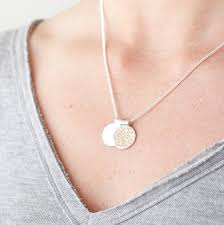 disc necklace personalised initial disc necklace by studio on stirling