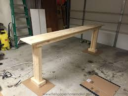 Diy Console Table Plans Diy Console Table For 20 The Happier Homemaker