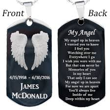 steel dog tag necklace images Customized stainless steel my angel dog tag necklace or key chain jpg