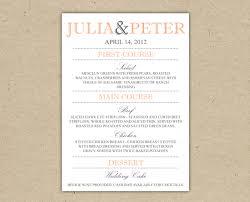 vintage wedding menu template professional u0026 high quality templates