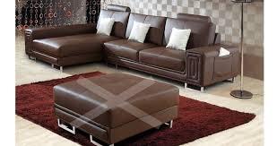 canapé en cuir marron canape angle cuir marron maison design wiblia com