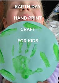 earth day hand print craft the gingerbread house co uk