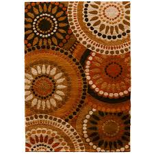 Lowes Area Rug Shop Orian Rugs Merrifield Orange Rectangular Indoor Machine Made