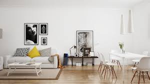 in a space like this living room and dining room must be separate