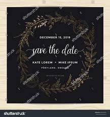 Invitation Card Samples Save Date Wedding Invitation Card Template Stock Vector 440456206