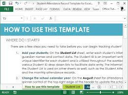 student attendance sheet template excel free attendance tracking