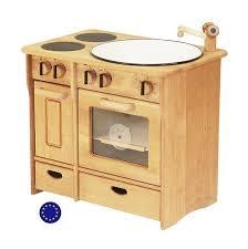 cuisine bois jouet cuisine complète en bois massif un jouet avec cuisinère four evier