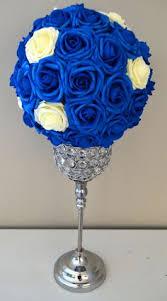 Blue Wedding Centerpieces by Royal Blue Elegant Wedding Flower Ball Wedding By Kimeekouture