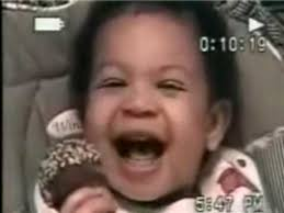 Laughing Baby Meme - baby gives the evil eye youtube