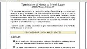 cover letter desktop notice of termination monthtomonth lease with