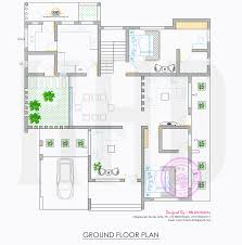 all in one house elevation floor plan and interiors kerala first