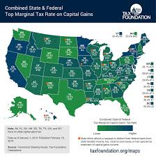 Map Of The United States Capitals by How High Are Capital Gains Tax Rates In Your State Tax Foundation