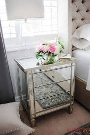 nightstands small mirrored cabinet narrow nightstand black and