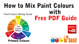 how to mix paint colours tutorial with free download pdf chart