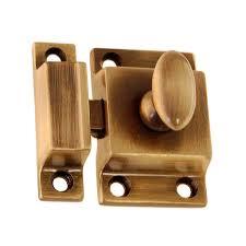 cabinet latch antique brass