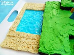 easy minecraft birthday party cake kitchen fun 3 sons