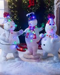 fiber optic christmas decorations outdoor fiber optic snowman band balsam hill
