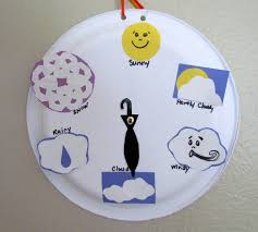 paper plate craft weather wheel chart youtube