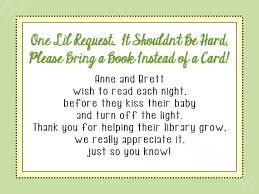 bring book instead of card to baby shower bring a card instead of a book baby shower insert gender neutral