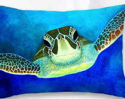 Sea Turtle Home Decor Turtle Pillow Cover Etsy