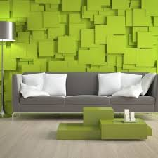 Lime Green Sofa by Modern Interior Living Room With L Shaped Green Sofa And Striped