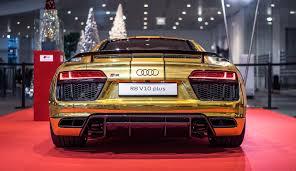 Audi R8 Matte - 2016 audi r8 v10 plus gets official chrome gold wrap autoevolution