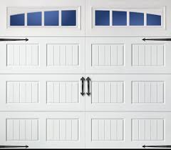 steel carriage garage doors amarr carriage bead board long panel arched thames true white