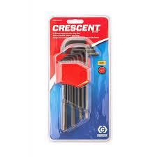 crescent chklasae13 13 pc long arm sae hex key set