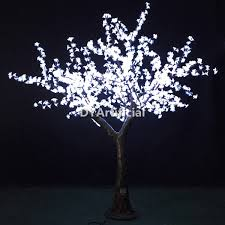 1728 led 200cm high artificial blue lighted trees dongyi