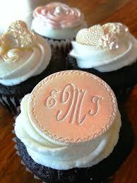 monogram cupcake toppers edible cupcake toppers wedding wedding cake topper edible