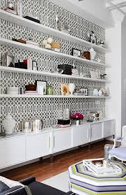 wallpaper that looks like bookshelves tips for styling a bookcase like an interior designer simplified bee