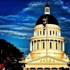 California State Flag California State Capitol With Flag Photograph By Phil Huettner