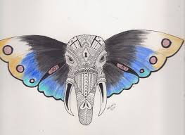 butterfly elephant by icenheart on deviantart